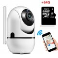 1080P Wifi Camera Automatic Motion Detection Cam + 64GB MicroSD Card