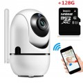 1080P Wifi Camera Automatic Motion Detection Cam + 128GB MicroSD Card