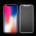 2.5D Full coverage tempered glass for iPhone X White